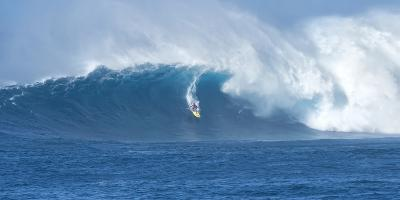 Surfer Riding a Maverick Wave on the North Shore of Maui-Chad Copeland-Photographic Print