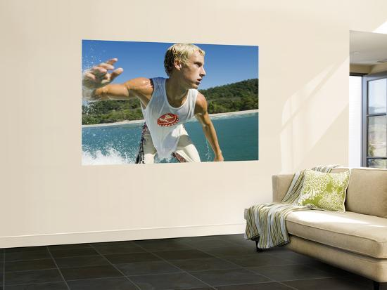 Surfer Riding a Wave-Christian Aslund-Wall Mural