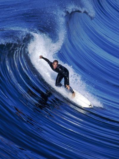 Surfer Riding a Wave-David Pu'u-Photographic Print