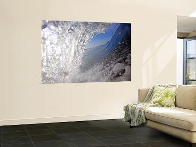 Surfer's Perspective Looking Out Barrel of Wave, at Popular Surfing Beach Playa Aserradores-Paul Kennedy-Giant Art Print