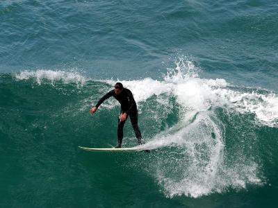 Surfer, St Clair Beach, Dunedin, New Zealand-David Wall-Photographic Print