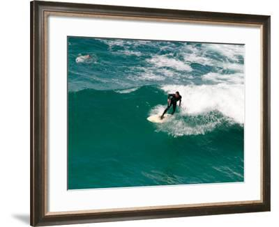 Surfer, St Clair Beach, Dunedin, South Island, New Zealand-David Wall-Framed Photographic Print