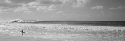 Surfer Standing on the Beach, North Shore, Oahu, Hawaii, USA--Premium Photographic Print