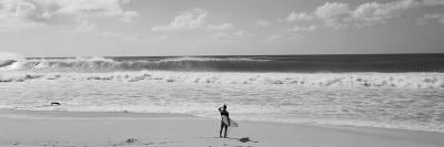 Surfer Standing on the Beach, North Shore, Oahu, Hawaii, USA--Photographic Print
