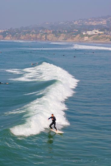 Surfers, Pacific Beach, San Diego, California, USA-Peter Bennett-Photographic Print