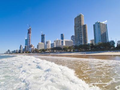 Surfers Paradise Beach and High Rise Buildings, the Gold Coast, Queensland, Australia, Pacific-Matthew Williams-Ellis-Photographic Print
