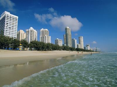 Surfers Paradise Beach, Gold Coast, Queensland, Australia-Robert Francis-Photographic Print