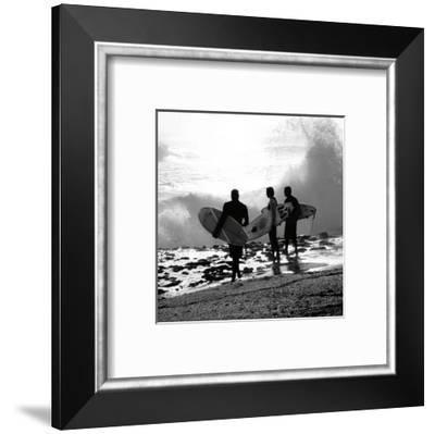 Surfers-Harold Silverman-Framed Art Print