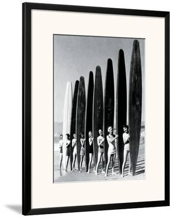 Surfin' Gals-The Chelsea Collection-Framed Art Print