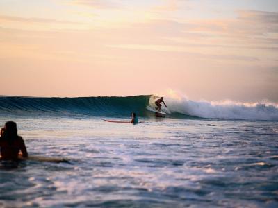 Surfing at Avellanas Beach, Nicoya Peninsula-Aaron McCoy-Photographic Print