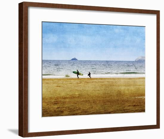 Surfing Away-Pete Kelly-Framed Giclee Print