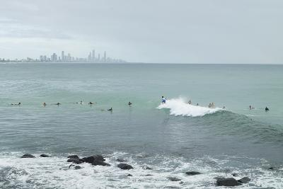 Surfing Early Morning , Queensland , Australia-Southern Stock-Photographic Print