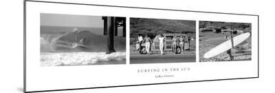Surfing in the 60's-Leroy Grannis-Mounted Print