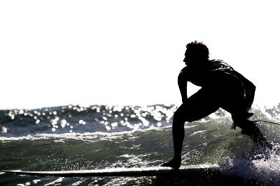 Surfing Silhouette I-Karen Williams-Photographic Print