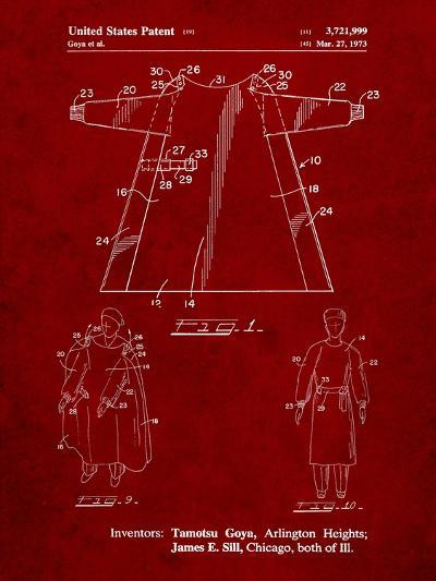Surgical Gown Patent Print-Cole Borders-Art Print