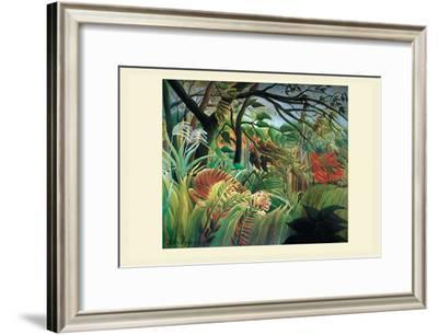 Surprised! Storm in the Forest-Henri Rousseau-Framed Art Print