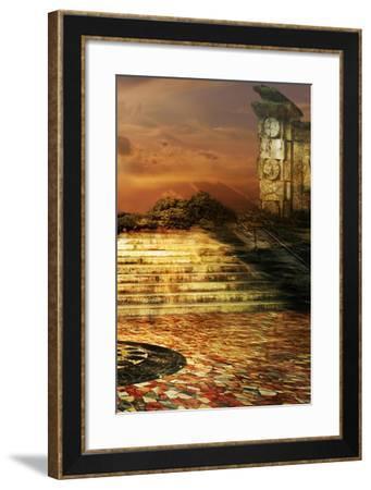 Surreal Architecture- sattva_art-Framed Art Print