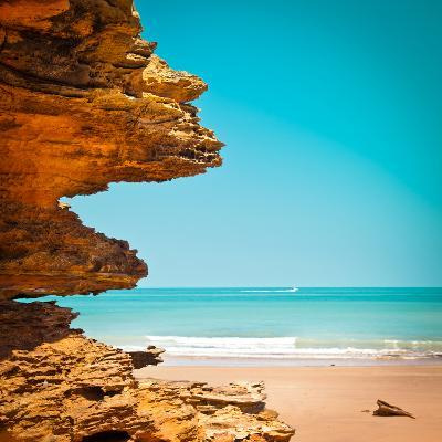Surreal Rock Formation in Broome-Light Bulb Works-Photographic Print