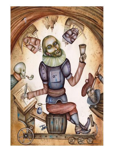 Surreal Shakespeare Portrait--Art Print