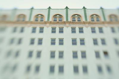 Surreal Shot of a 1920s Seafoam Green Art Deco Building-Jena Ardell-Photographic Print