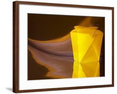 Surrealistic Yellow Take-Out Food Box