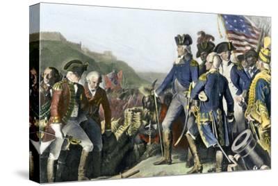 Surrender of British Army to Washington and Rochambeau at Yorktown, c.1781
