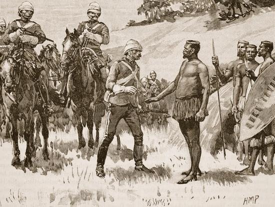 Surrender of Cetewayo, 1880, Illustration from 'Cassell's Illustrated History of England'--Giclee Print