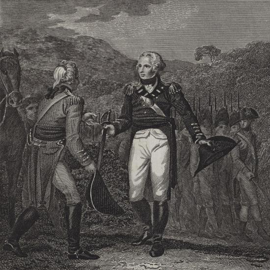 Surrender of General Burgoyne's Army at Saratoga, 1777--Giclee Print