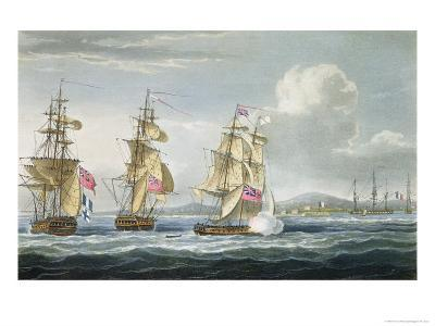 Surrender of Tamatave, Engraved Sutherland, The Naval Chronology of Great Britain, c.1820-Thomas Whitcombe-Giclee Print
