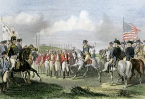 Surrender of the British Army under Lord Cornwallis at Yorktown, c.1781