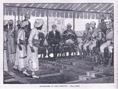 Surrender of the Peishwa Ad 1818-Henry Marriott Paget-Giclee Print
