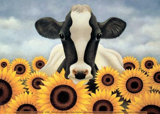 Surrounded by Sunflowers-Lowell Herrero-Art Print