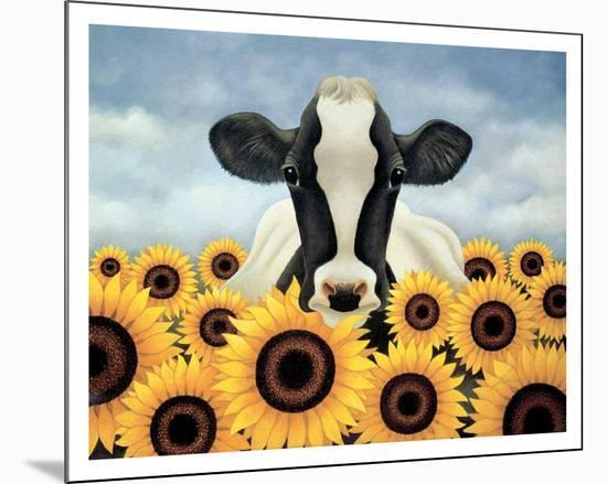 Surrounded by Sunflowers-Lowell Herrero-Mounted Print