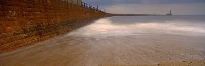 Surrounding Wall Along the Sea, Roker Pier, Sunderland, England, United Kingdom--Photographic Print
