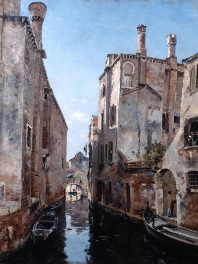 Surroundings of the Church San Sebastian, Venice, 1892-Emmanuel Lansyer-Giclee Print