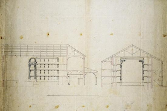 Survey and Proposal for Restoration of Morelliano Theatre in Novara: Plan--Giclee Print