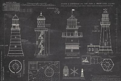 Survey of Lighthouses-The Vintage Collection-Giclee Print