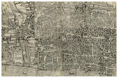 Survey of London, 16th or 17th Century--Giclee Print