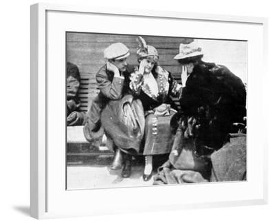 Survivors of the Titanic Disaster Onboard the Carpathia--Framed Photographic Print