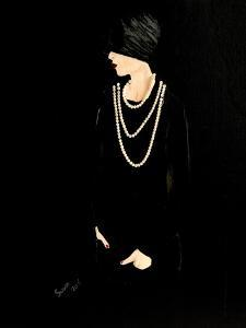 1920s Lady with Pearls by Susan Adams