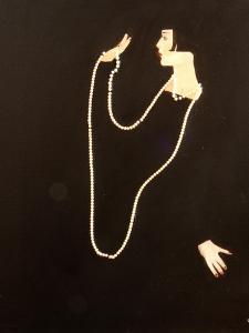 1920s Women Swinging Pearls, 2016 by Susan Adams