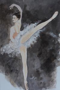 Ballet Dancer with Pink Top 2015 by Susan Adams