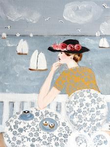 Having Tea by the Sea, 2015 by Susan Adams