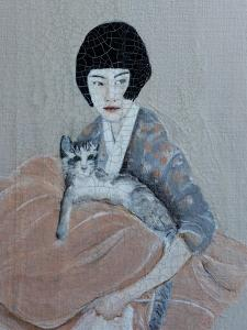 Korean Women with Tabby Cat, 2016, Detail by Susan Adams