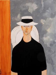 Martin in Style of Modigliani, 2016 by Susan Adams