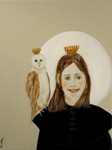 Matilda with Owl, 2017 by Susan Adams