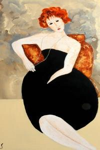 Modigliani with Pearls, 2016 by Susan Adams