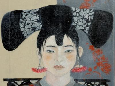 Qing Dynasty Woman with Butterfly, 2015