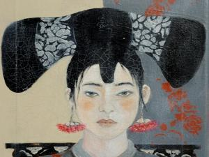 Qing Dynasty Woman with Butterfly, 2015 by Susan Adams