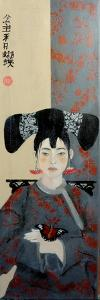 Qing Dynasty Women with Butterfly, 2015 by Susan Adams